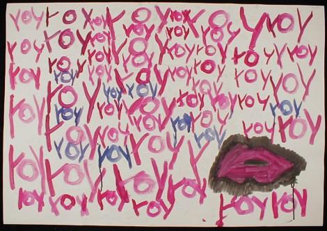Roy Wenzel, Roy Roy Roy ..., tekening waskrijt.