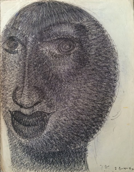 Kardol, Truus; Untitled, 1960, graphite, 65x50 cm.