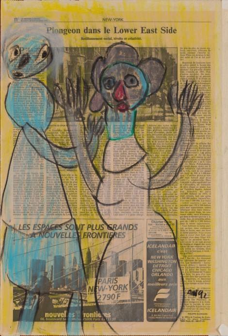 Nidzgorski, Adam; untitled, 1992, pastel, 50x33cm.