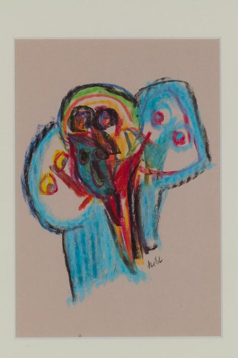 Nidzgorski, Adam; untitled, pastel, 28x20cm.