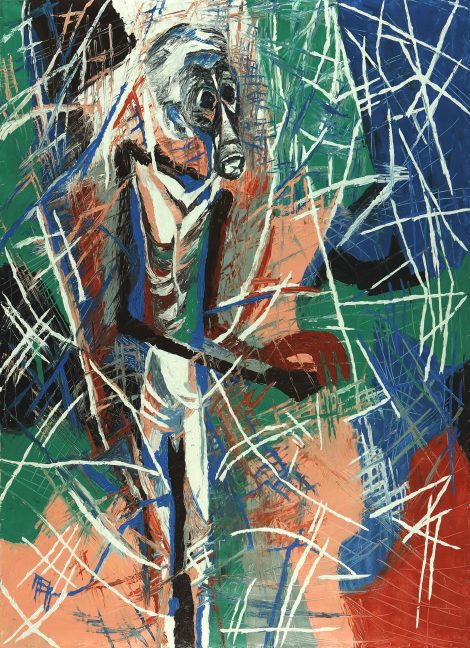Koczÿ, Rosemarie; Standing Man (123), 1994, acrylic on canvas, 239x182 cm, SH16072