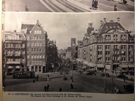 Amsterdam Damrak, from: Pictorial Holland, Amsterdam 1945
