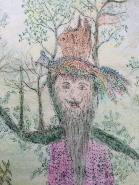 Sluiter, Paula; Untitled, 1971, coloured etching, detail