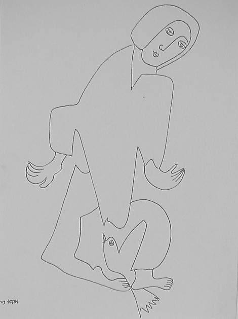 Sendrey, Gérard; Untitled, ink on paper, SH10304