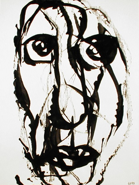 Sendrey, Gérard; Untitled, 1994, ink on paper, SH12655
