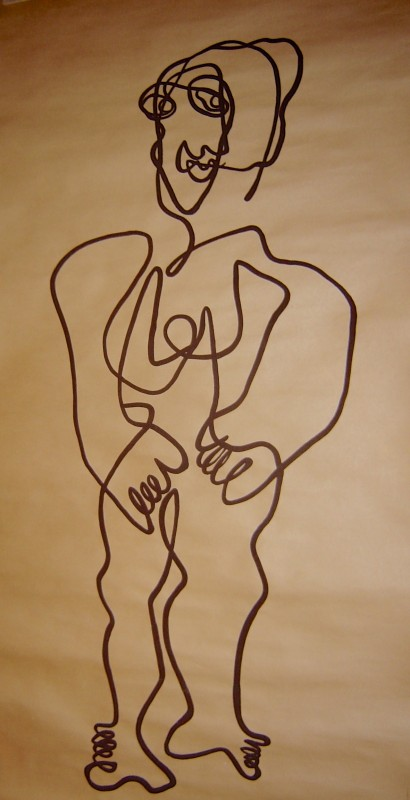 Sendrey, Gérard; Untitled, 1987, gouache on brown paper, SH12928