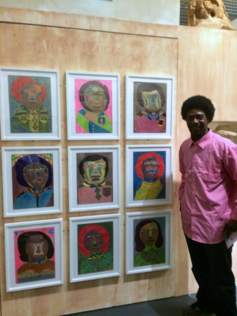 Johnson Weree with his drawings in Musevery