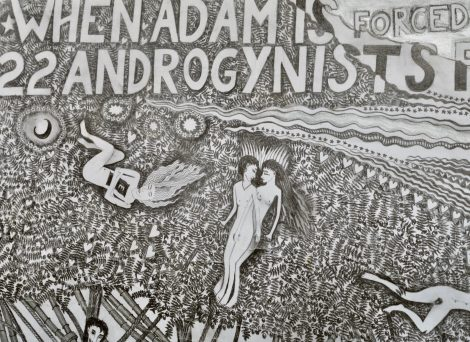 Hipkiss; When Adam is forced..., 1992, detail.